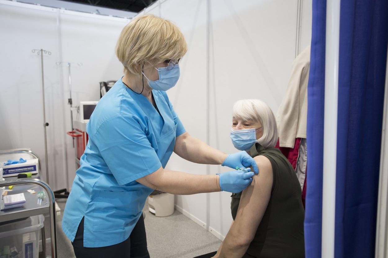 Punkt szczepień w UCK. Fot. Sylwia Mierzewska, UCK