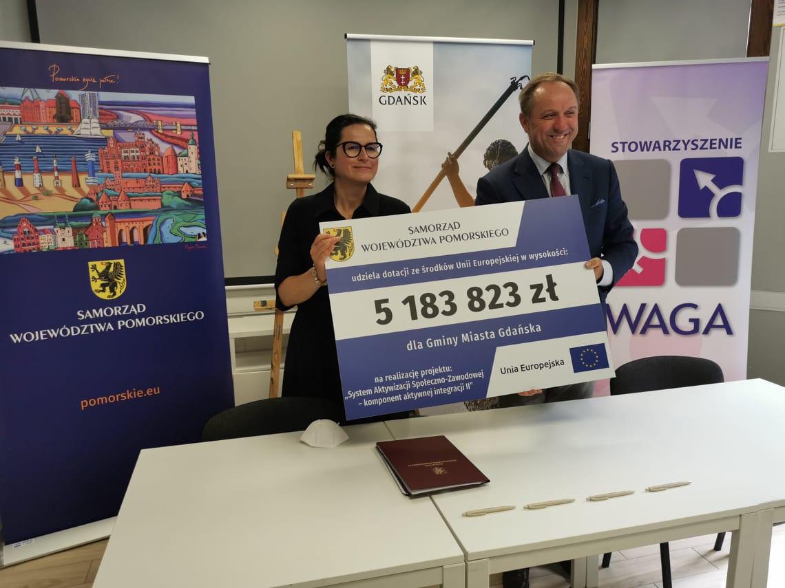 Ponad 5 mln zł unijnej dotacji dla Gdańska. Wsparcie aktywnej integracji mieszkańców