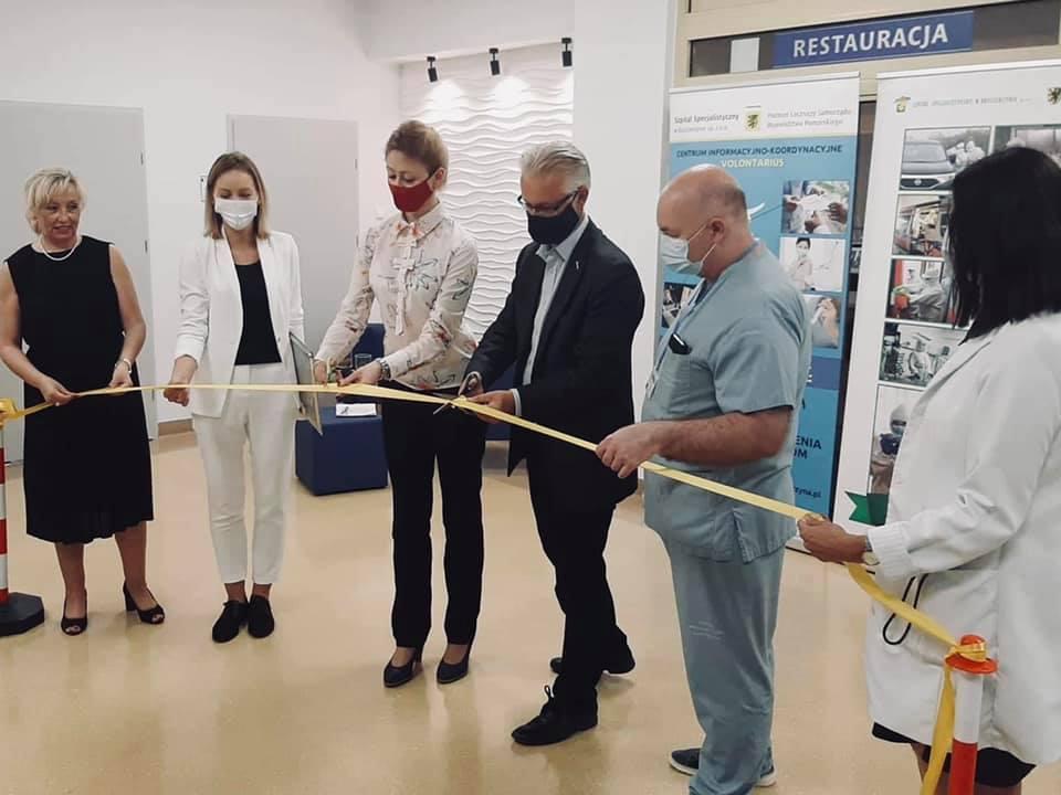 Otwarcie Centrum Informacyjno-Koordynacyjnego Volontarius w Szpitalu Specjalistycznym w Kościerzynie