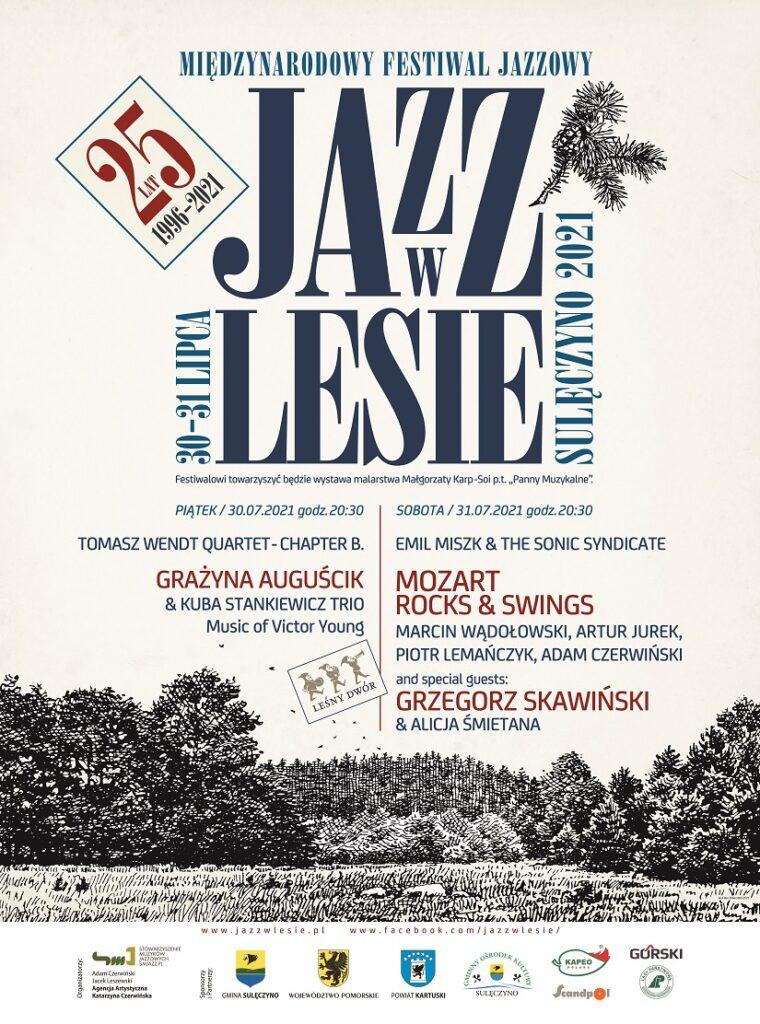Jazz w Lesie, plakat. Fot. mat. prasowe festiwalu