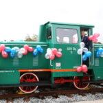Pociąg na peronie w Lęborku. Fot. materiał prasowy UM Lębork