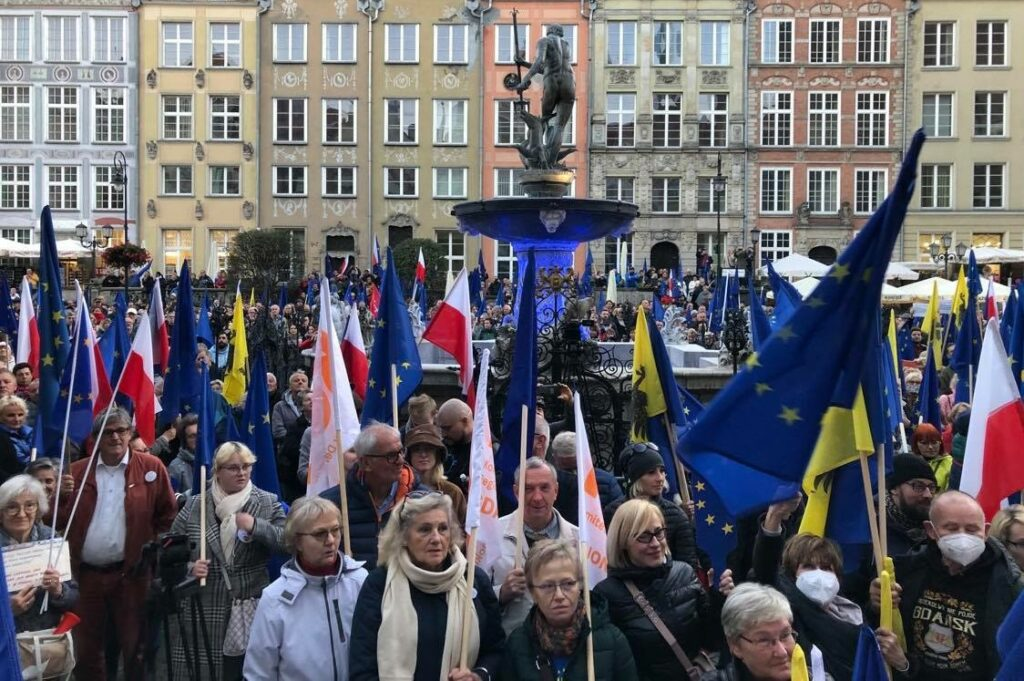 Gdańsk, protesty przeciwko polexitowi. Fot. mat. prasowe