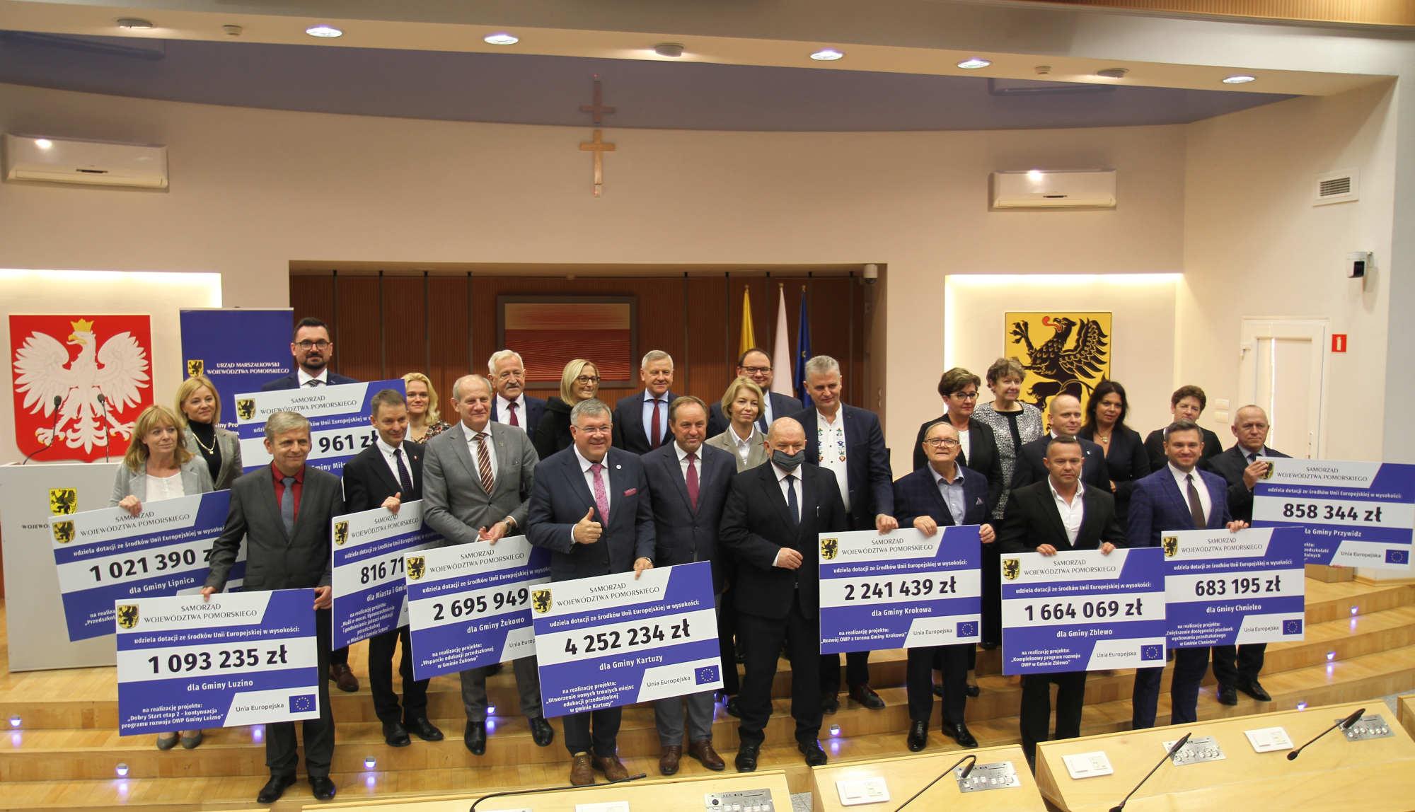 Ponad 18 mln zł unijnego dofinansowania trafi do 12 pomorskich gmin. To wsparcie na edukację przedszkolną