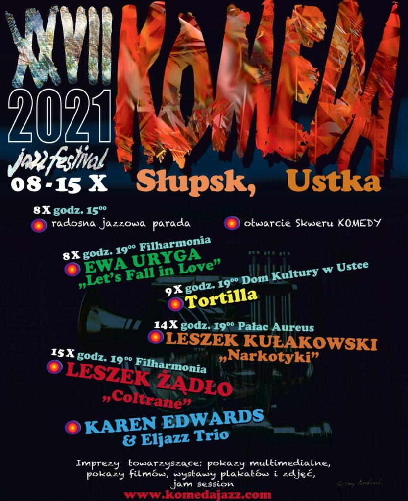 Komeda Jazz Festival 2021, plakat. Fot. mat. prasowe festiwalu